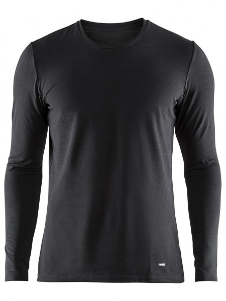Essential Warm  Roundneck Longsleeve black