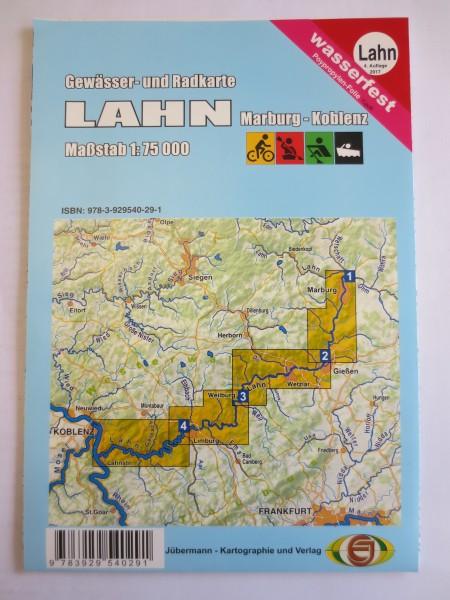 Lahn - Gewässer- und Radkarte