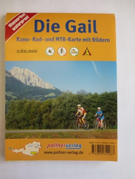 Die Gail Kanu-Rad und MTB Karte mit Bilder