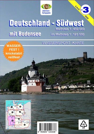 Wassersport-Wanderkarte WW3