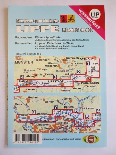 Lippe - Gewässer- und Radkarte