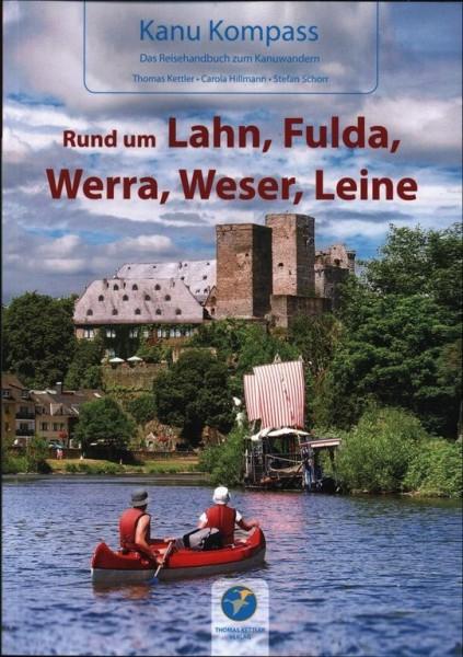 Rund um Lahn, Fulda, Werra, Weser, Leine Kanu Kompass -